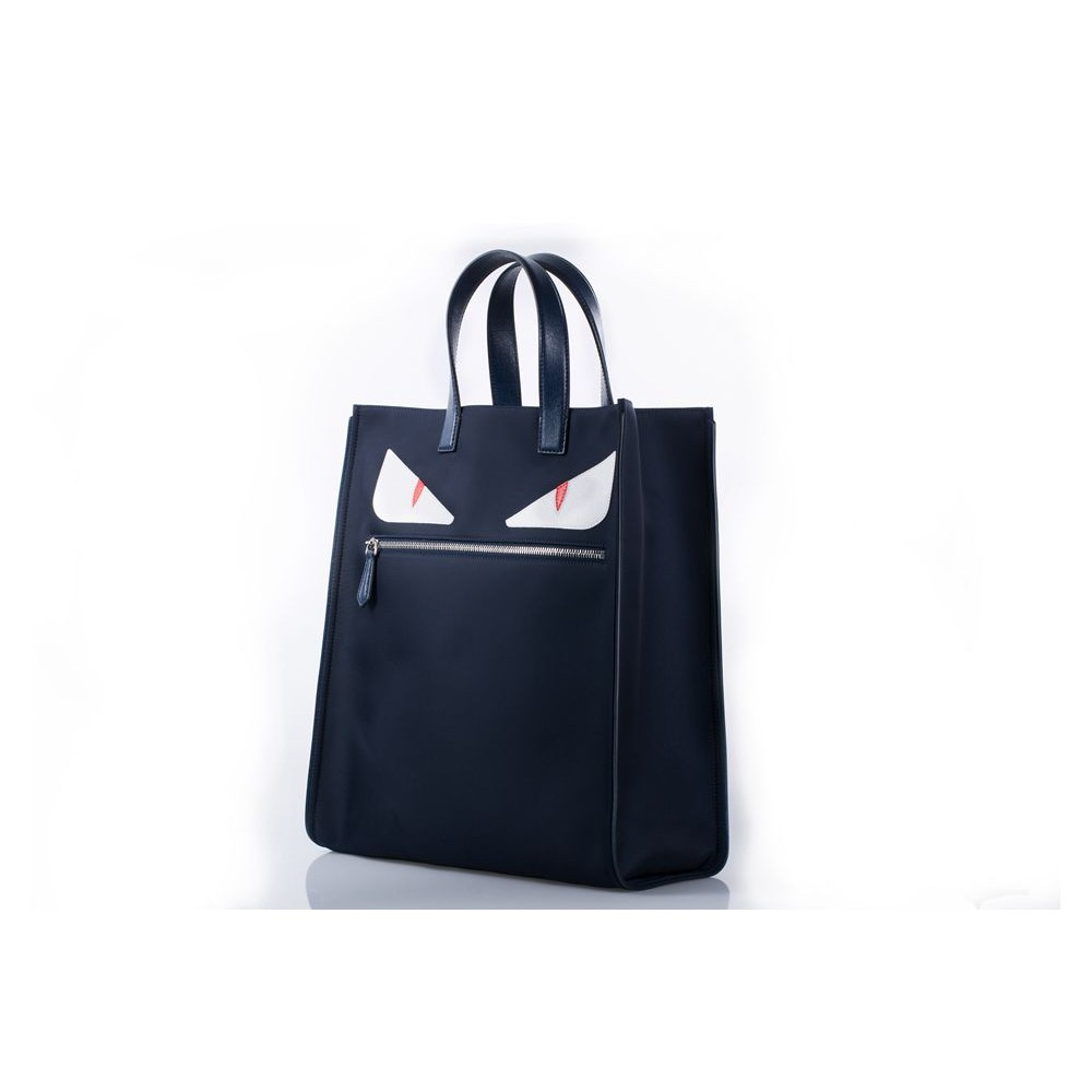 FENDI BLUE MONSTER TOTE BAG